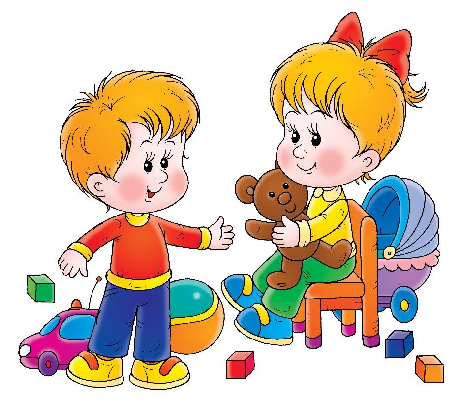 Красивые открытки, картинка с детьми в детском саду